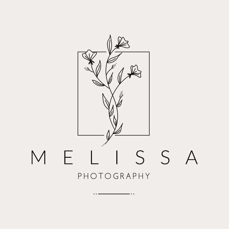 Delicate flower logo design for a feminine photographer by Amber&Ink