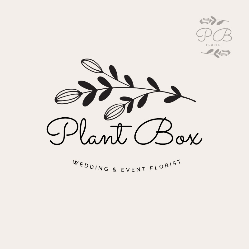 Custom made logo design with floral elements.