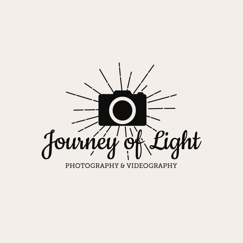 Custom logo design for Journey of Light - photographer and videographer by Amber & Ink